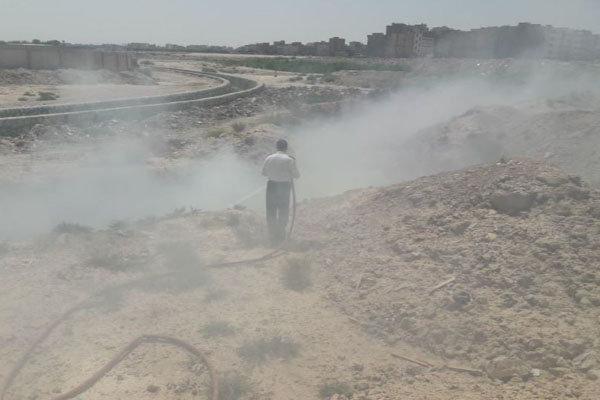 حریق ناشی از زباله سوزی گسترده در بهارستان اطفا شد
