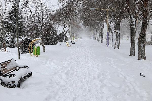 بارش 20 سانتی متری برف در خلخال، کمترین بارندگی در شمال استان