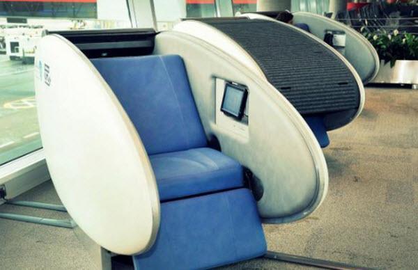 در فرودگاه ابوظبی راحت چرت بزنید!