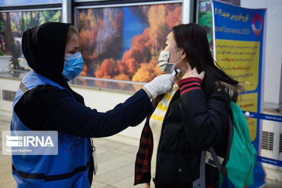 تصاویر، غربالگری مسافران ورودی چین به کشور از لحاظ ویروس کورونا