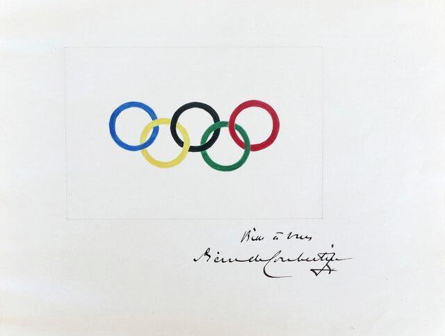 حراج نقاشی اصلی پنج حلقه المپیک، احتمال فروش 100 هزار یورویی اثر کوبرتن