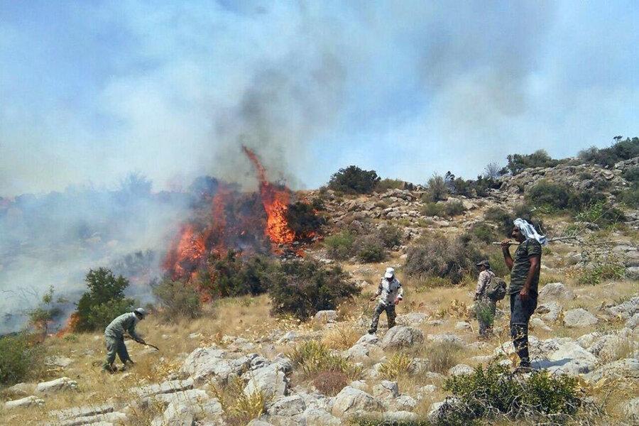 37 هکتار از مراتع شیروان در آتش سوخت