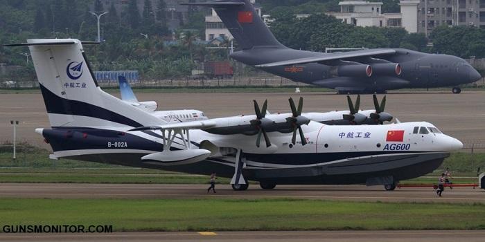 بزرگترین هواگرد آب نشین دنیا از چین پرواز می نماید(