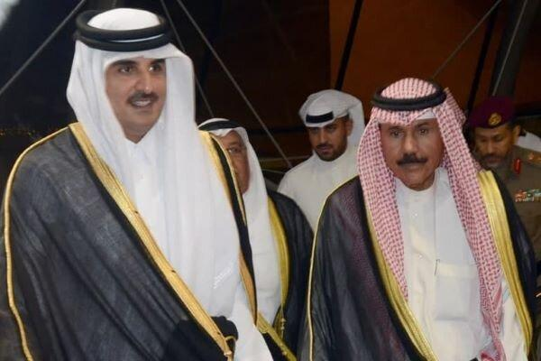 امیر قطر از کوشش های کویت برای حل بحران دوحه با اعراب قدردانی کرد