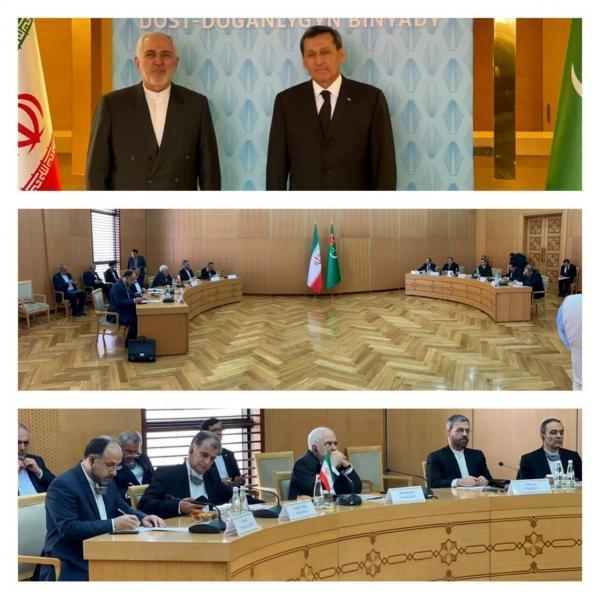 ظریف با همتای ترکمنستان خود ملاقات کرد