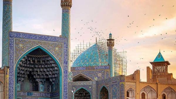 نظارت دقیق کارشناسان بر فرایند بازسازی گنبد مسجد امام(ره) اصفهان
